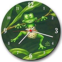 Reloj de rana verde