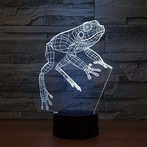 lámpara de rana 3D