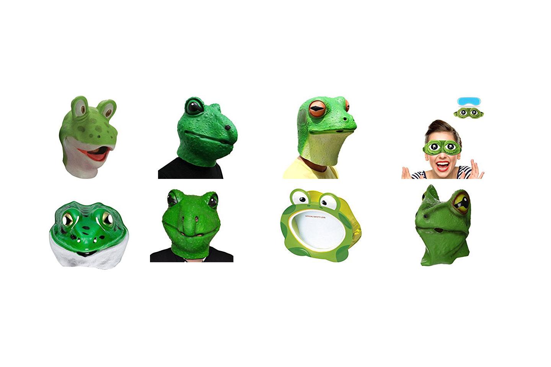 máscaras de ranas