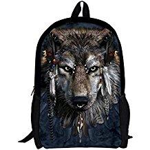 mochila con lobo