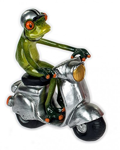 figura de rana motorista