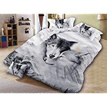 ropa de cama de lobos