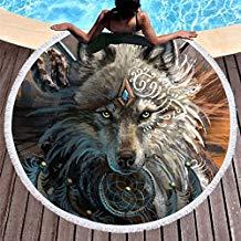toalla de lobo gris