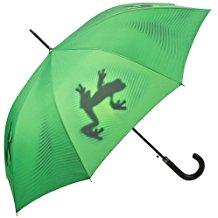 paraguas de rana verde
